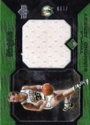 2004-05 Black Diamond Jerseys Triple Diamond #LB Larry Bird
