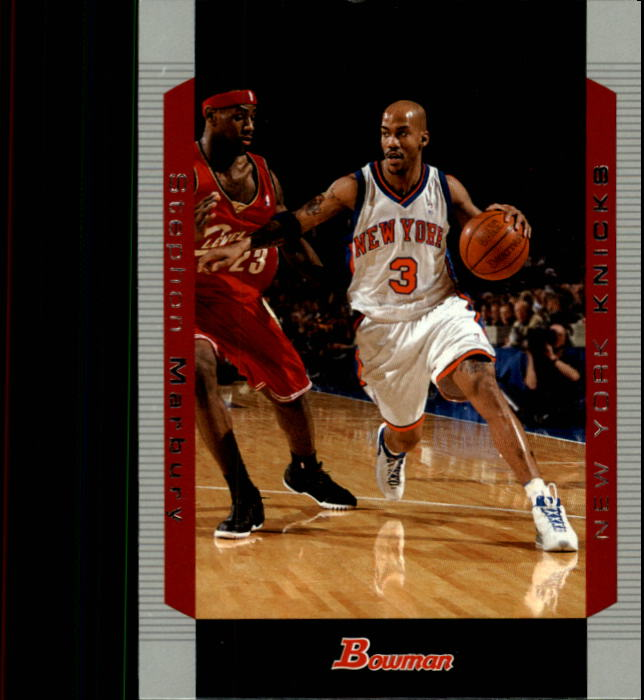 2004-05 Bowman #3 Stephon Marbury