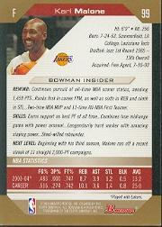 2004-05 Bowman Gold #99 Karl Malone back image