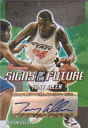 2004-05 Bowman Signs of the Future #TAI Tony Allen