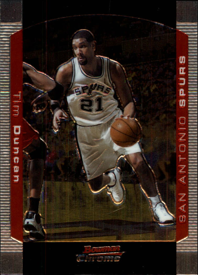 2004-05 Bowman Chrome #12 Tim Duncan