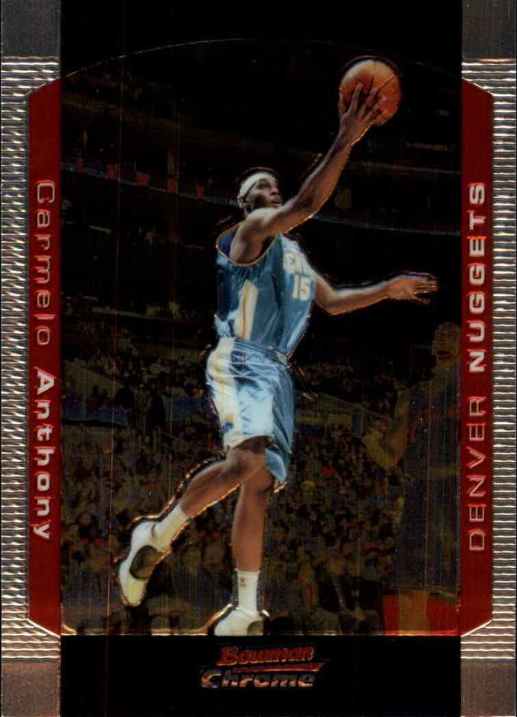 2004-05 Bowman Chrome #15 Carmelo Anthony