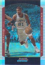 2004-05 Bowman Chrome Refractors #12 Tim Duncan