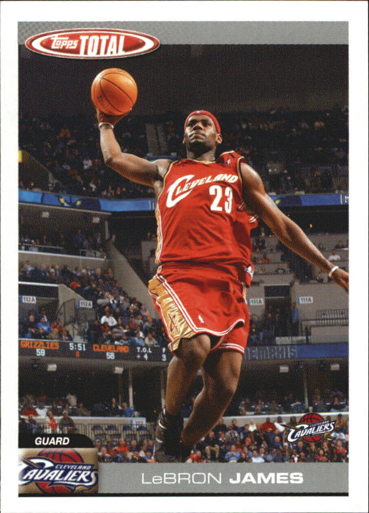2004-05 Topps Total Team Checklists #5 Lebron James
