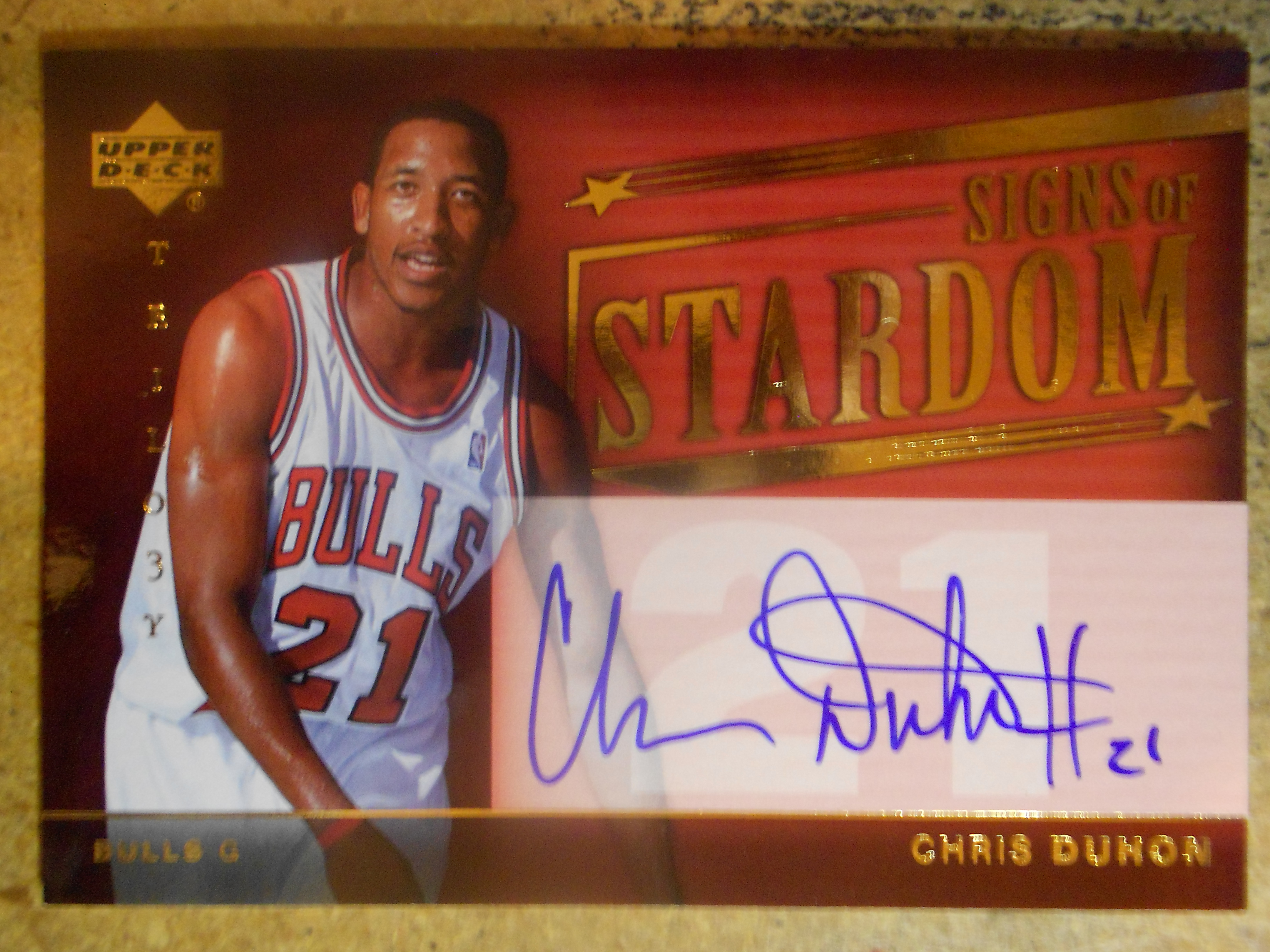 2004-05 Upper Deck Trilogy Signs of Stardom #CD Chris Duhon