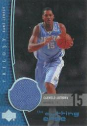 2004-05 Upper Deck Trilogy The Cutting Edge #CA Carmelo Anthony