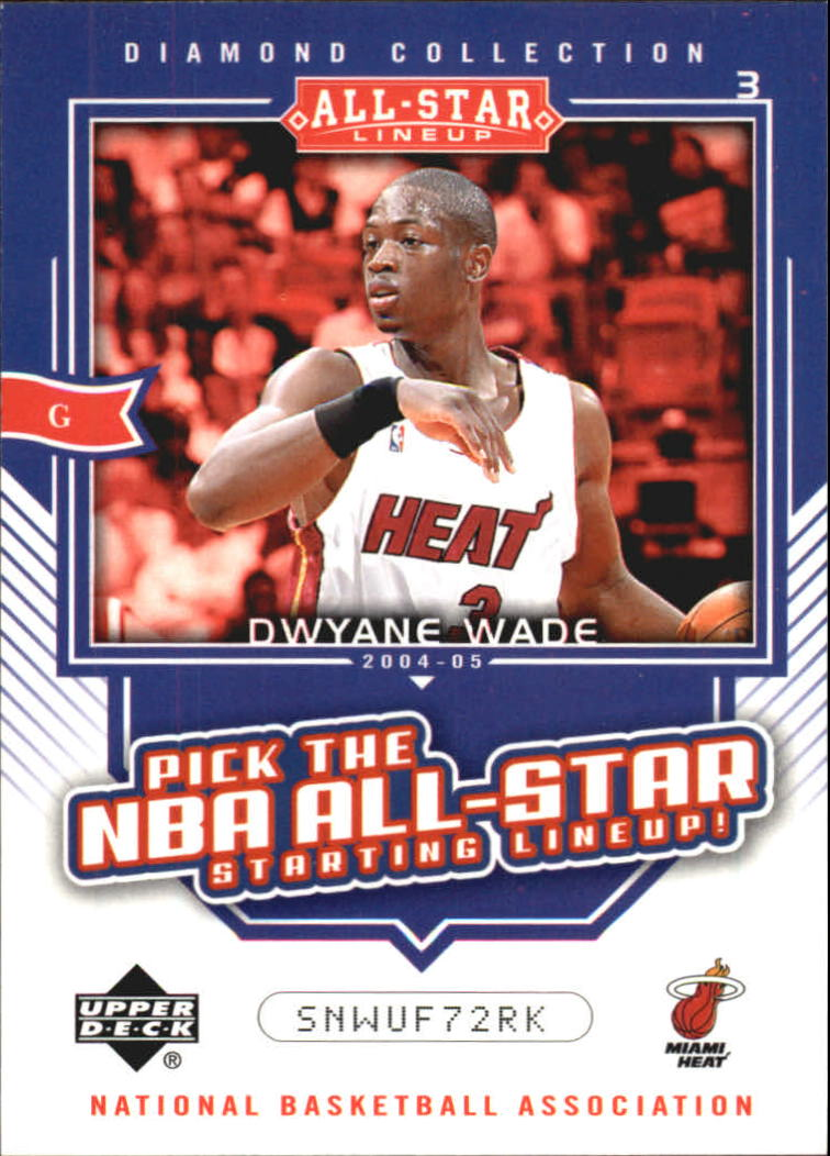 2004-05 Upper Deck All-Star Lineup Promos/eCards #AS15 Dwyane Wade