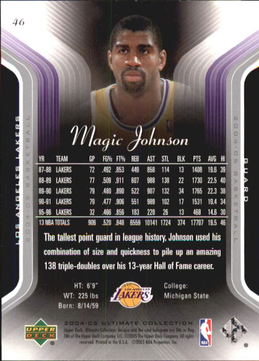 2004-05 Ultimate Collection #46 Magic Johnson back image