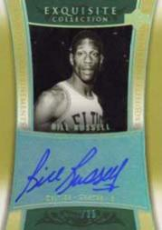 2004-05 Exquisite Collection Enshrinements Autographs #ENBR1 Bill Russell Posed