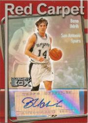 2004-05 Topps Luxury Box Red Carpet Autographs #BU Beno Udrih