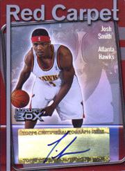 2004-05 Topps Luxury Box Red Carpet Autographs #JS Josh Smith