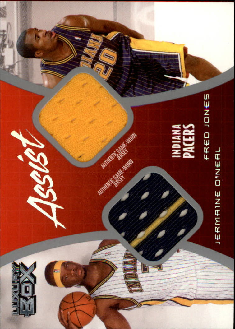 2004-05 Topps Luxury Box Assist Dual Relics #ASOJ Jermaine O'Neal/Fred Jones