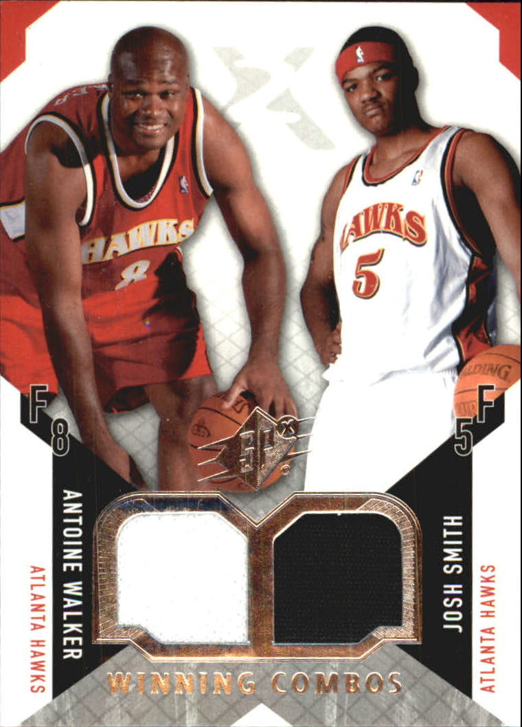 2004-05 SPx Winning Materials Combos #AJ Antoine Walker/Josh Smith
