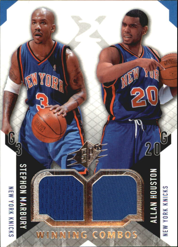 2004-05 SPx Winning Materials Combos #MH Stephon Marbury/Allan Houston
