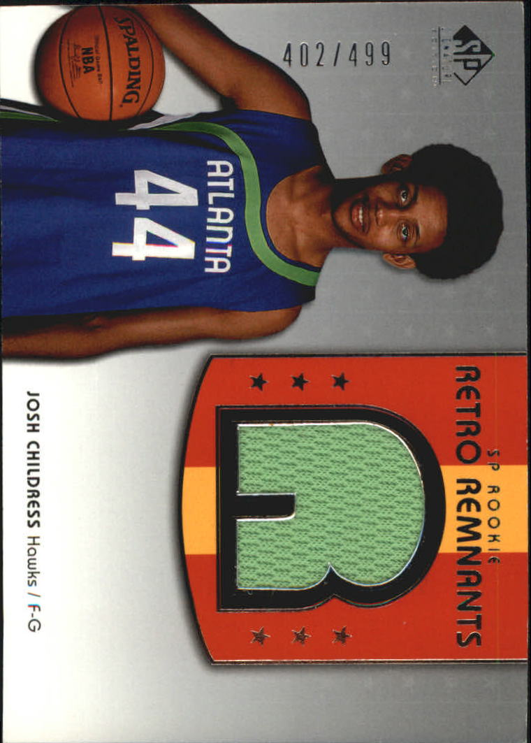 2004-05 SP Signature Edition #105 Josh Childress JSY RC