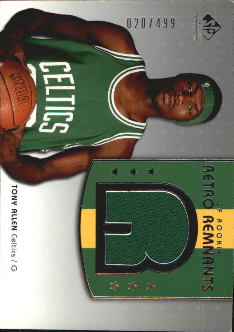 2004-05 SP Signature Edition #119 Tony Allen JSY RC