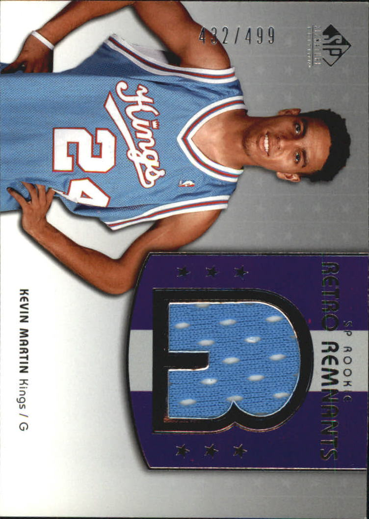 2004-05 SP Signature Edition #120 Kevin Martin JSY RC