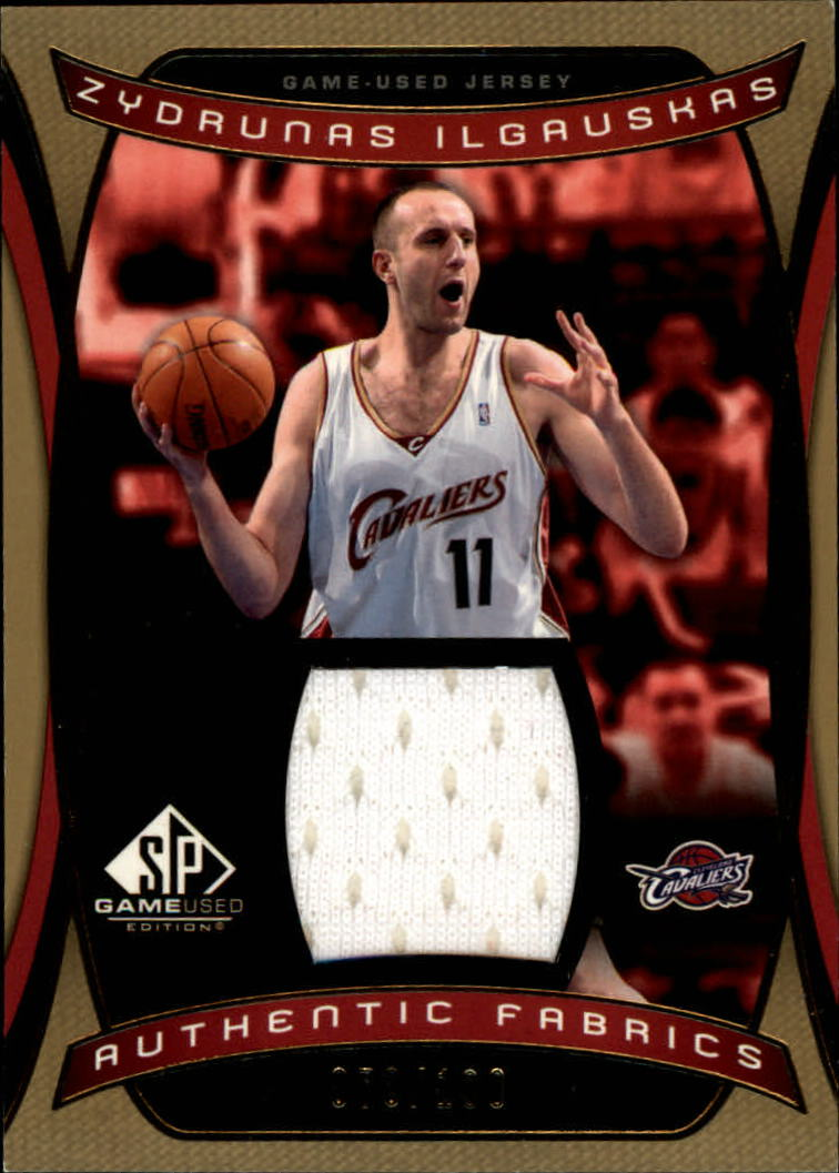 2004-05 SP Game Used Authentic Fabrics Gold #ZI Zydrunas Ilgauskas
