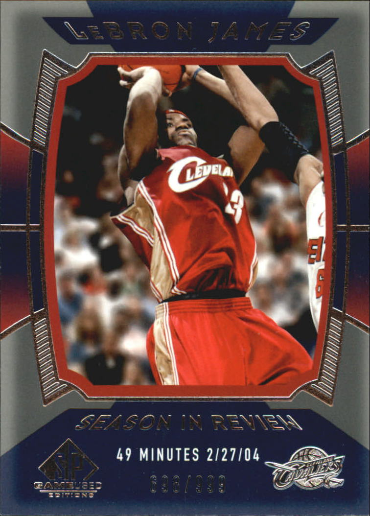 2004-05 SP Game Used #157 LeBron James SIR