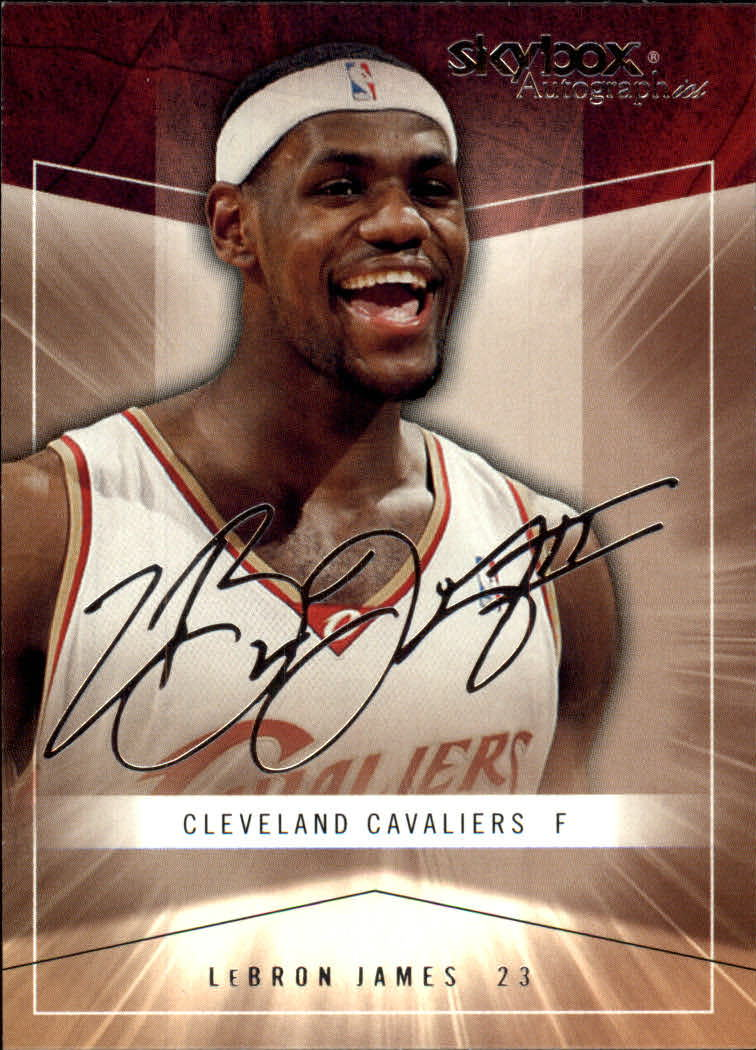 2004-05 SkyBox Autographics #5 LeBron James