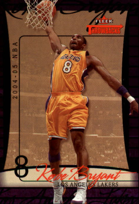 2004-05 Fleer Throwbacks #10 Kobe Bryant front image