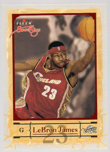 2004-05 Fleer Sweet Sigs #75 LeBron James