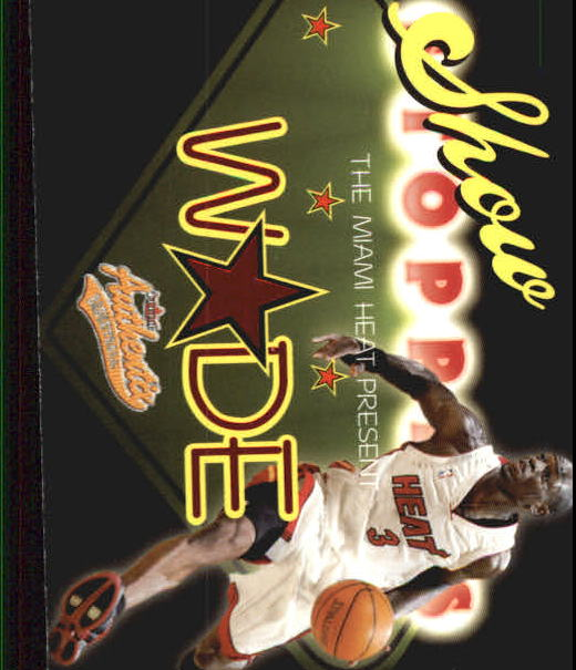 2004-05 Fleer Authentix Showstoppers #DW Dwyane Wade