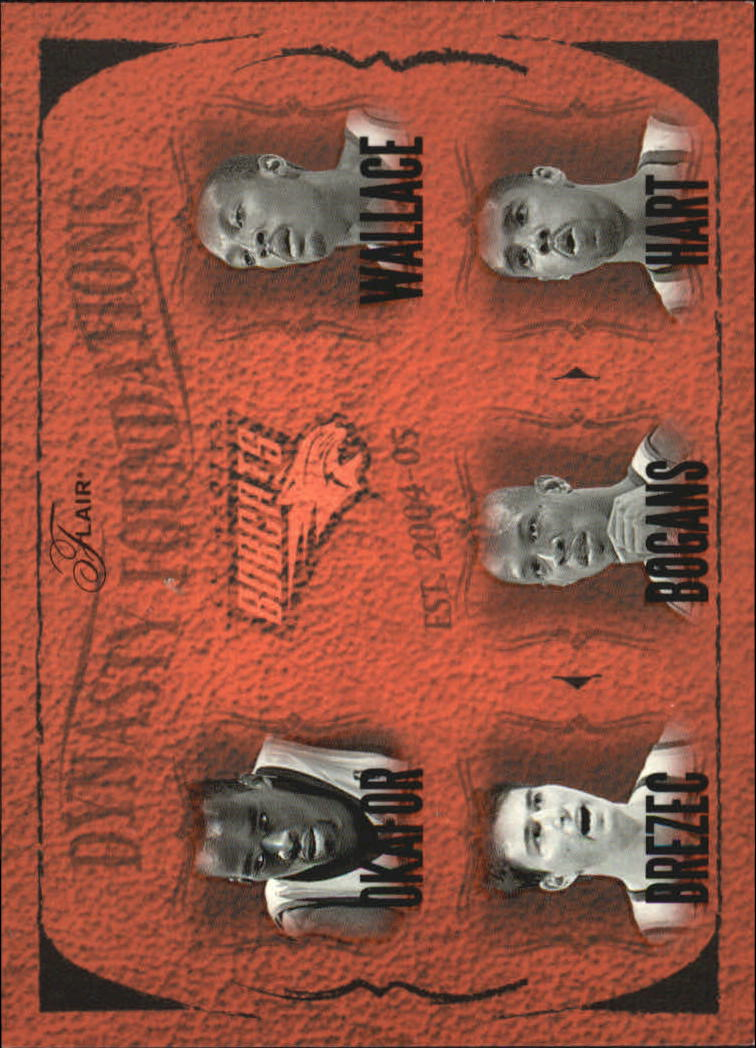 2004-05 Flair Dynasty Foundations #2 Emeka Okafor/Gerald Wallace/Primoz Brezec/Keith Bogans/Jason Hart