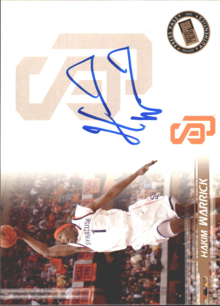 2005 Press Pass Autographs #HW Hakim Warrick