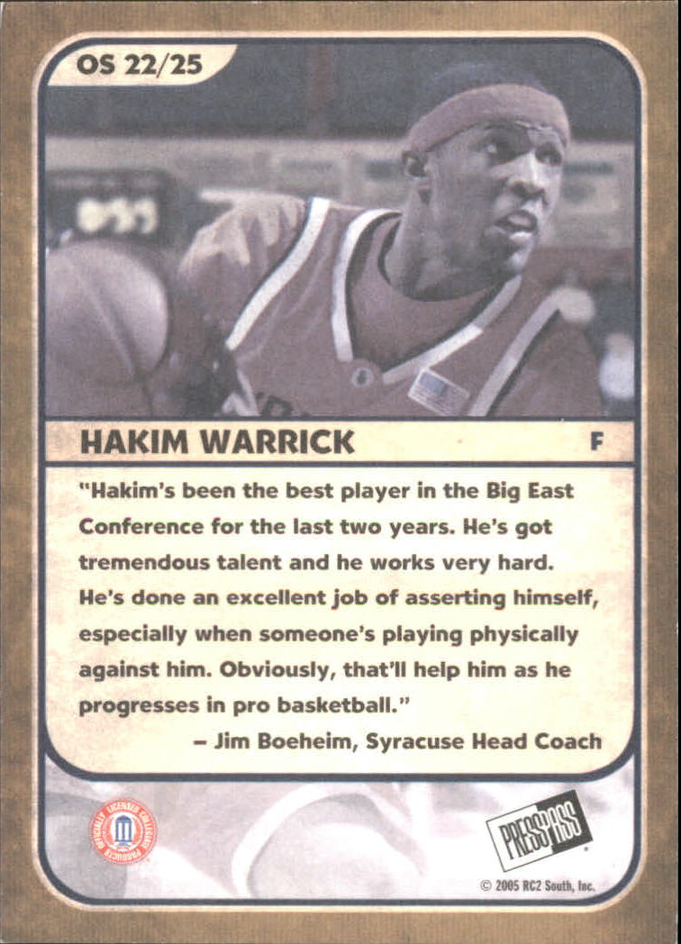 2005 Press Pass Old School #22 Hakim Warrick back image