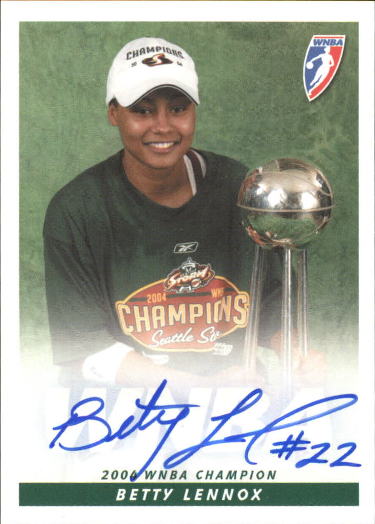 2005 WNBA Autographs #BL Betty Lennox Trophy