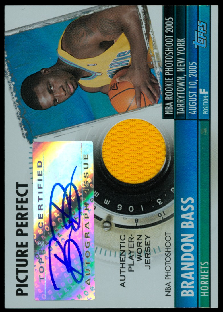 2005-06 Topps Big Game Picture Perfect Relics Autographs #BB Brandon Bass JSY