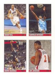 2005-06 Bazooka 4-on-1 Stickers #31 Grant Hill/Carmelo Anthony/Andre Iguodala/Joe Johnson
