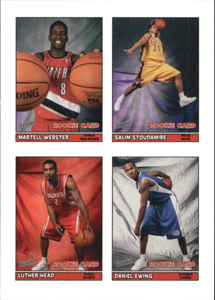 2005-06 Bazooka 4-on-1 Stickers #41 Martell Webster/Salim Stoudamire/Luther Head/Daniel Ewing