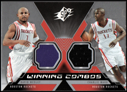 2005-06 SPx Winning Materials Combos #WW David Wesley/Charlie Ward