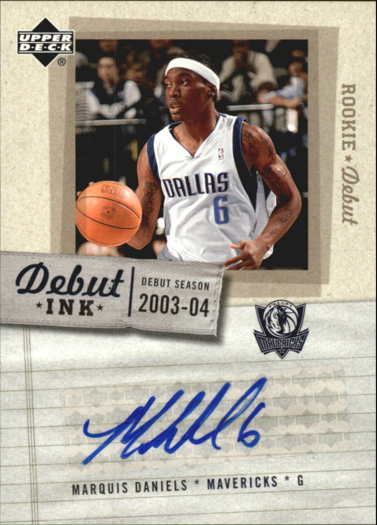 2005-06 Upper Deck Rookie Debut Ink #MD Marquis Daniels