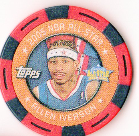 2005-06 Topps NBA Collector Chips Red #24 Allen Iverson