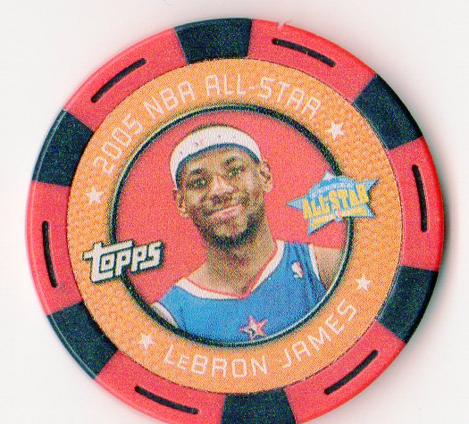 2005-06 Topps NBA Collector Chips Red #42 LeBron James
