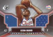 2005-06 SPx Winning Materials #EB Elton Brand