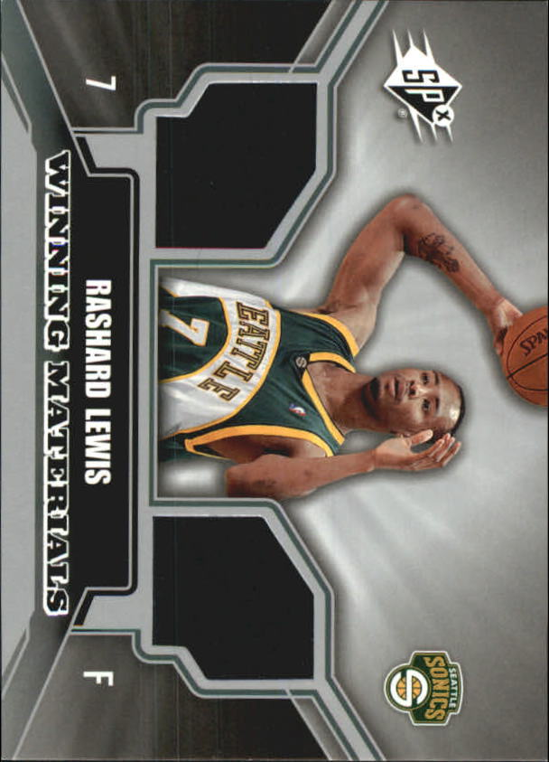 2005-06 SPx Winning Materials #RL Rashard Lewis