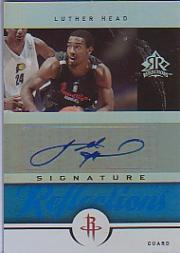 2005-06 Reflections Signatures Blue #LH Luther Head/50
