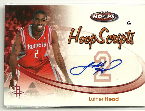 2005-06 Hoops HoopScripts #HSLH Luther Head
