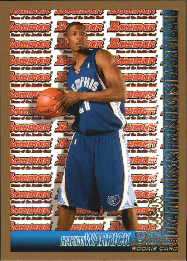 2005-06 Bowman Gold #158 Hakim Warrick