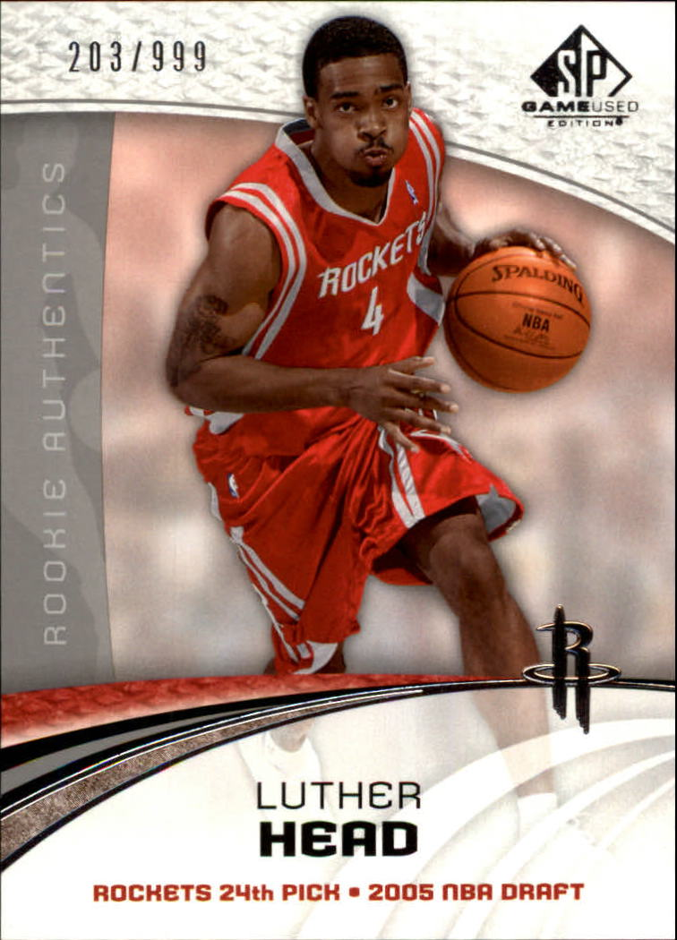 2005-06 SP Game Used #106 Luther Head RC