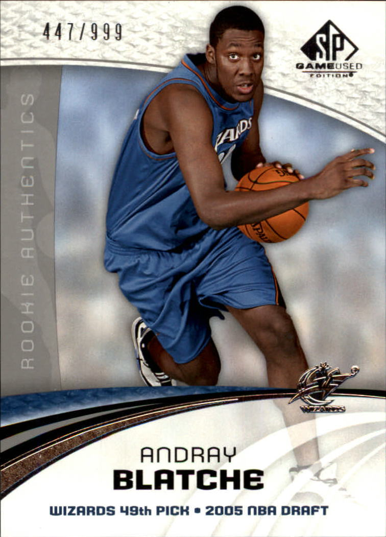 2005-06 SP Game Used #110 Andray Blatche RC