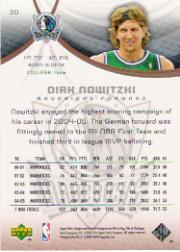 2005-06 SP Game Used 100 #20 Dirk Nowitzki back image