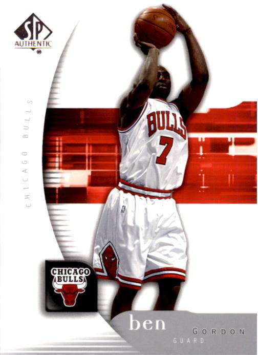 2005-06 SP Authentic #10 Ben Gordon front image