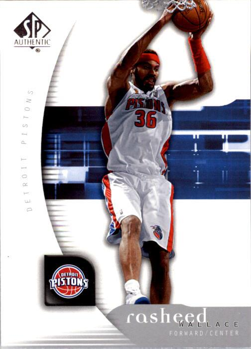 2005-06 SP Authentic #24 Rasheed Wallace