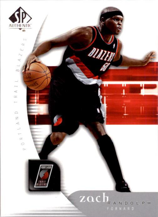 2005-06 SP Authentic #72 Zach Randolph