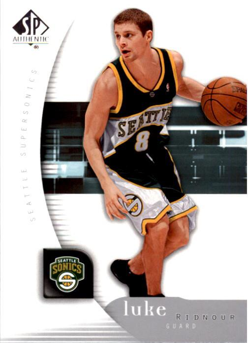 2005-06 SP Authentic #79 Luke Ridnour